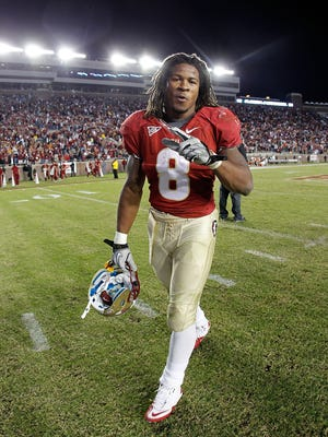Devonta Freeman after a game against the Miami Hurricanes  at Doak Campbell Stadium on November 12, 2011 in Tallahassee, Florida.