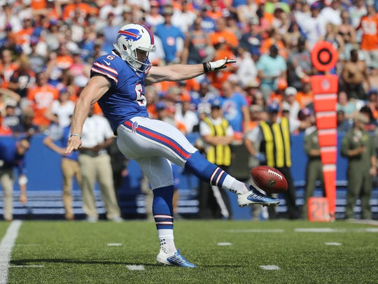 Former Bills punter Colton Schmidt is trying to revive his career in the AAF.