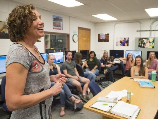 CSU adjunct professor Chryss Cada lectures her Writing