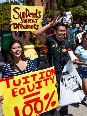 """Dreamers' demonstrate at Arizona State University"