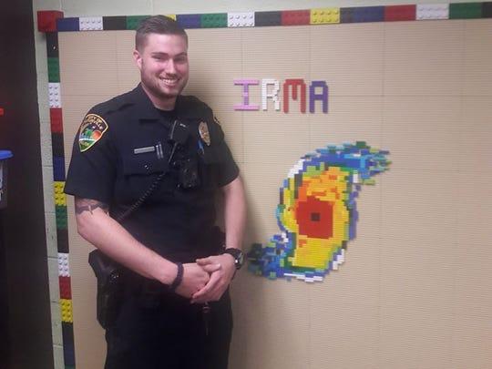 Titusville Police Officer Tyler Glenn used 300 Legos