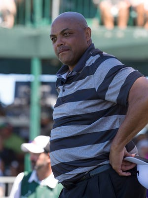 Charles Barkley during the American Century Championship at Edgewood Tahoe Golf Course in Stateline last July 16, 2017.