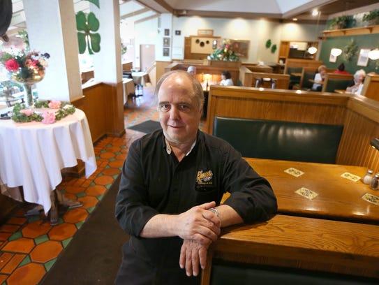 Jim Romano, owner, inside his Keenan's Restaurant in