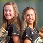 Stortstop Amy Jarrett, left, and Veronica Pezzoni, who plays second base, play for the Howell Highlanders and share the softball Player of the Year distinction.