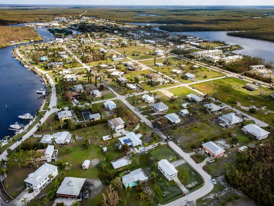 Everglades City, seen here on September 16, 2017, has