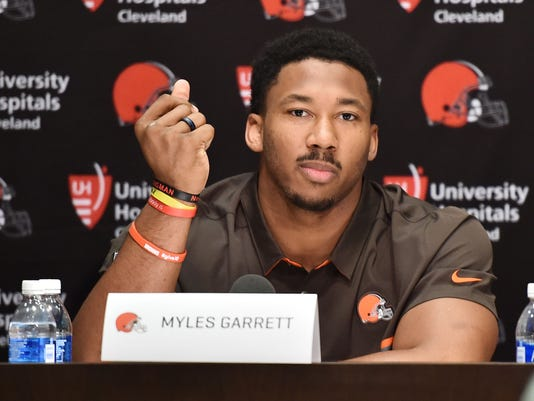 USP NFL: CLEVELAND BROWNS-PRESS CONFERENCE S FBN USA OH