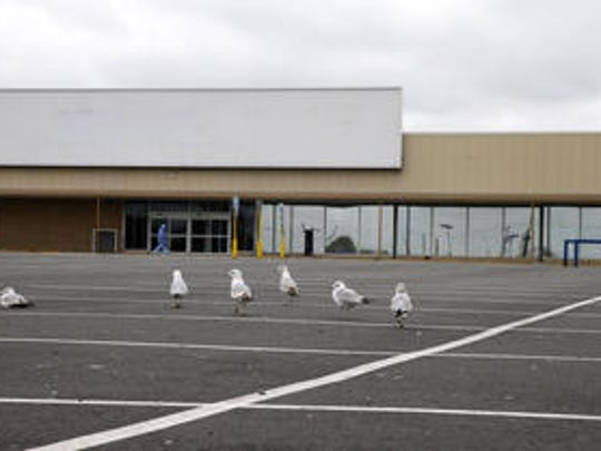 The site of the proposed Hazlet Town Center is now home of empty storefronts and parking lot with major retail sites empty.