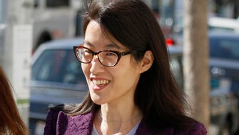 Ellen Pao leaves the Civic Center Courthouse during a lunch break in her trial Tuesday, Feb. 24, 2015, in San Francisco.