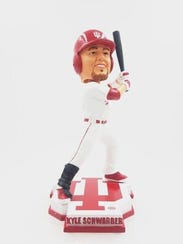 Kyle Shwarber now has an Indiana Hoosier bobblehead.