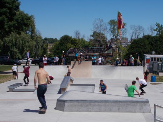 Scenes from the grand opening of the new skate park