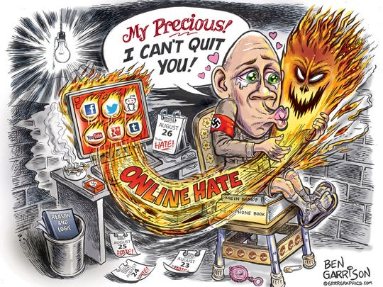 Ben Garrison said he was a victim of internet trolls