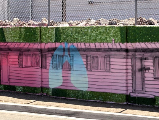 Healthy lifestyle-themed mural on East 10th Street