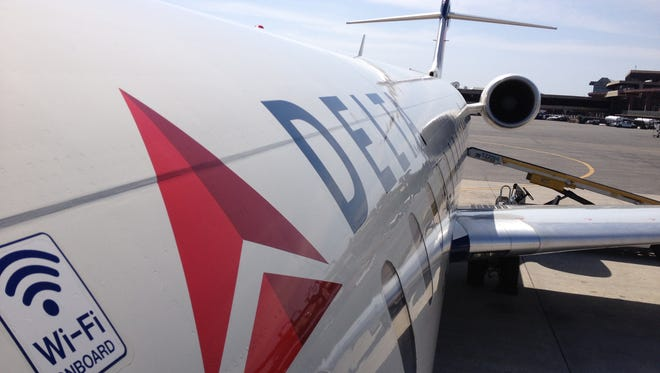 A Delta Connection regional jet at Newark Liberty International Airport on April 9, 2013.