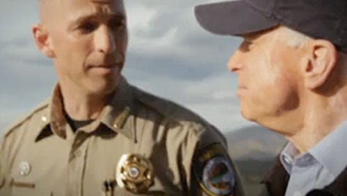 Sheriff Paul Babeu and Sen. John McCain in a 2010 McCain campaign ad.