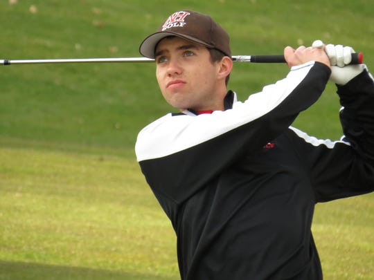 Tyler Senior tied for eighth to help Northern Highlands finish second at the FDU Invitational at River Vale Country Club on Wednesday, April 11.