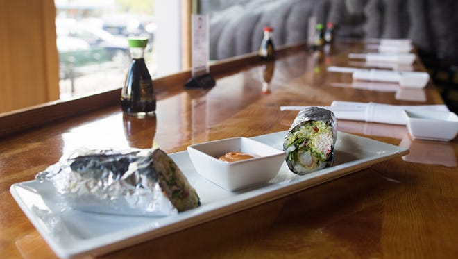 Wabi Sabi on Linden St. is offering a sushi burrito as a staple to its lunch menu after the one-time item became popular.