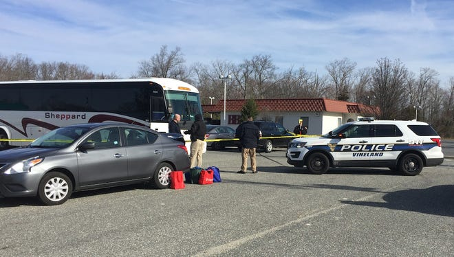 Vineland police investigate an incident Monday morning involving a tour bus that struck and killed a pedestrian near Lincoln and Dante avenues.
