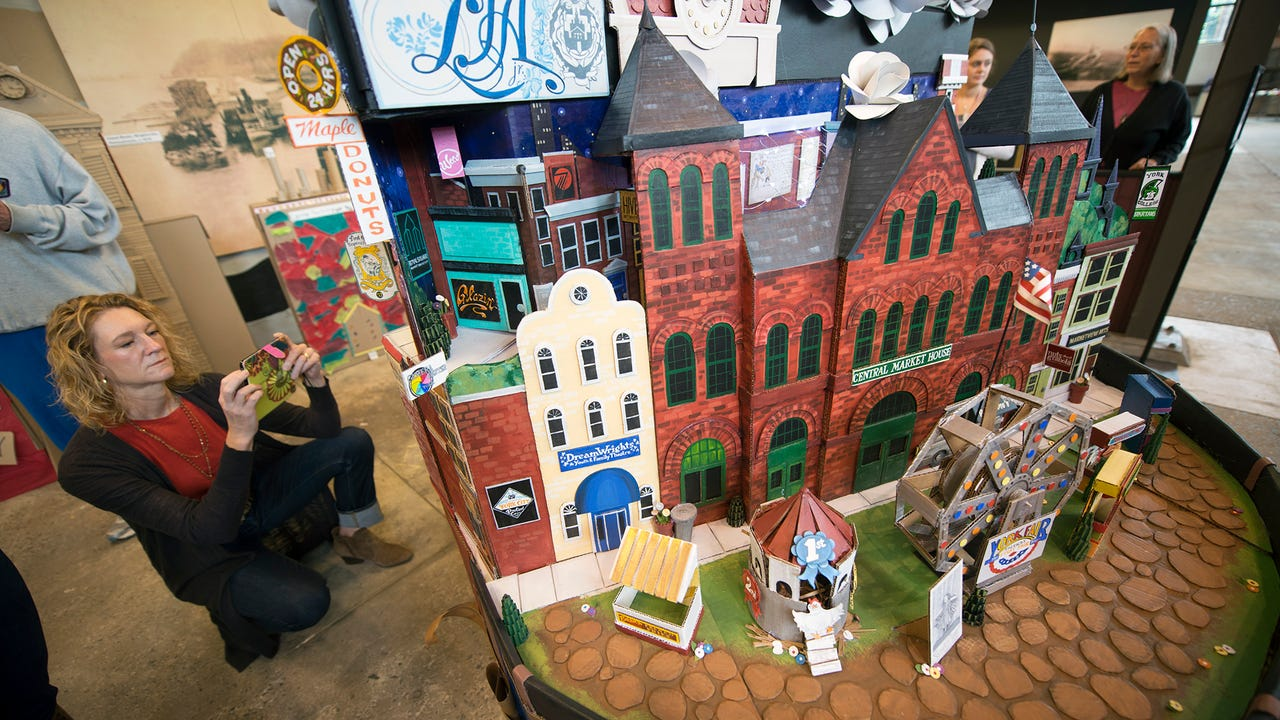 David Lynch's 360 model of York City present and past was unveiled during the History on the Half Shell event at the Agricultural & Industrial Museum in York. It will be on display until January.
