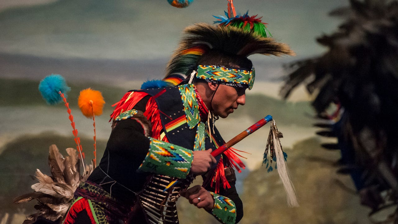 The Missouri River Dance Company performs the Story of the Painted Robe Dance at the Heritage Inn March 16. This year's theme is the Story of the Horse.