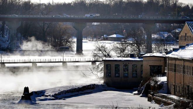 The State 47/Memorial Drive bridge in Appleton spans the Fox River.