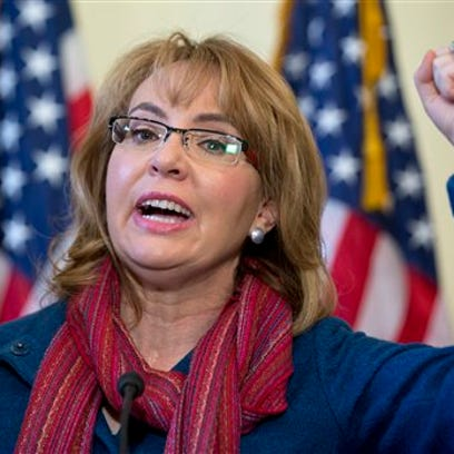 Former Rep. Gabby Giffords, D-Ariz., speaks on Capitol