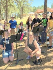 School musicians played at the kick-off for the reading