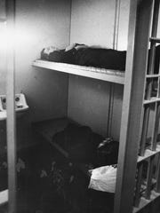 Stranded Indianapolis police officers slept in jail cells in the City-County Building.