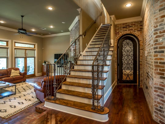 The entire home has custom woodwork and utilizes reclaimed