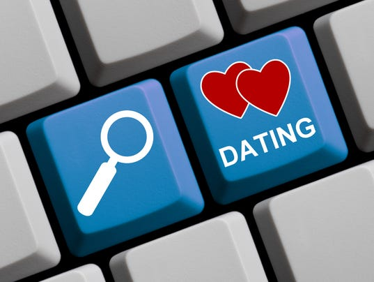 Search for Dating online - Computer Keyboard