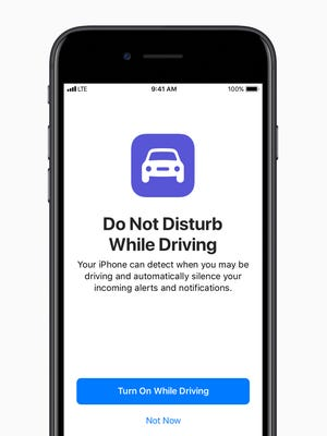 Apple's new mobile operating system for iPhones and iPads -- iOS 11, coming this fall -- lets drivers enact a Do Not Disturb while driving mode.