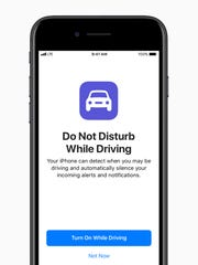 A new do not disturb app for iPhone while driving.