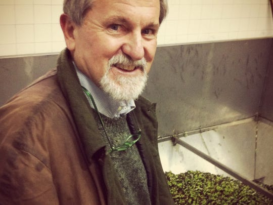 Enzo Corti has 1,300 olive trees at his home in Tuscany