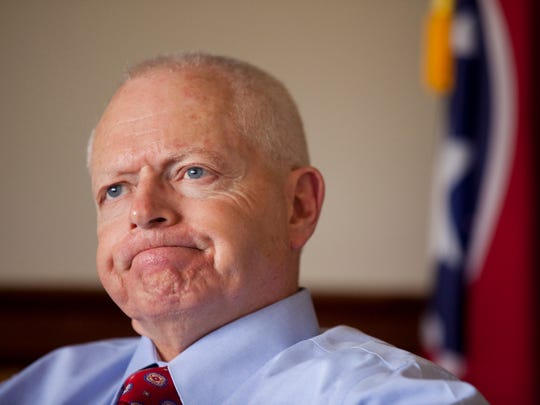 Bill Sorah, city manager for Bristol, Tenn., has an office two blocks from the state line.