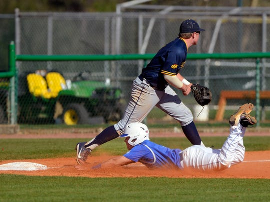 West Florida's Trevor Payne slides safely into third during an undated home game against Mississippi College at Jim Spooner Field.
