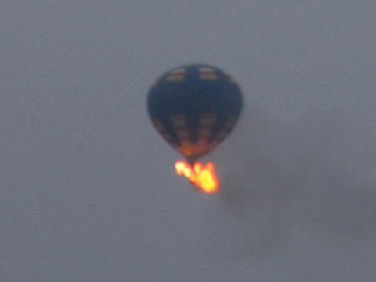 AP Hot Air Balloon Fire