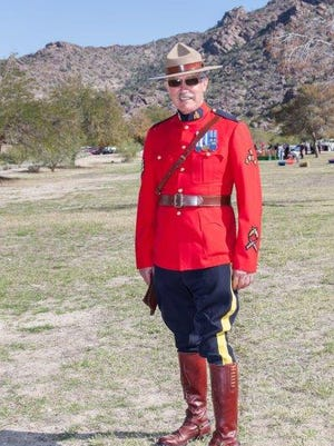 Mountie Dennis Levy. Mounties always attend picnic.