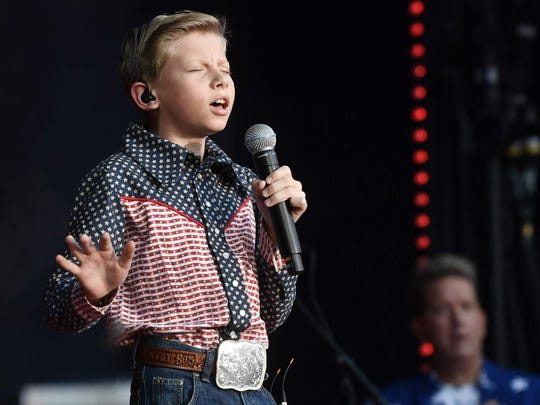Mason Ramsey will perform Sept. 8 at Indianapolis Motor Speedway.