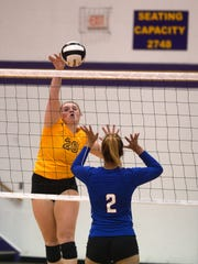 Hagerstown swept Union County in volleyball Tuesday,