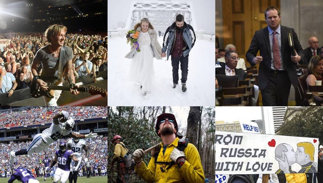 Sample of best photos taken by Tennessean photographers in 2016.