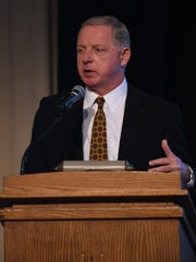 Purdue athletic director Mike Bobinski at Sunday's