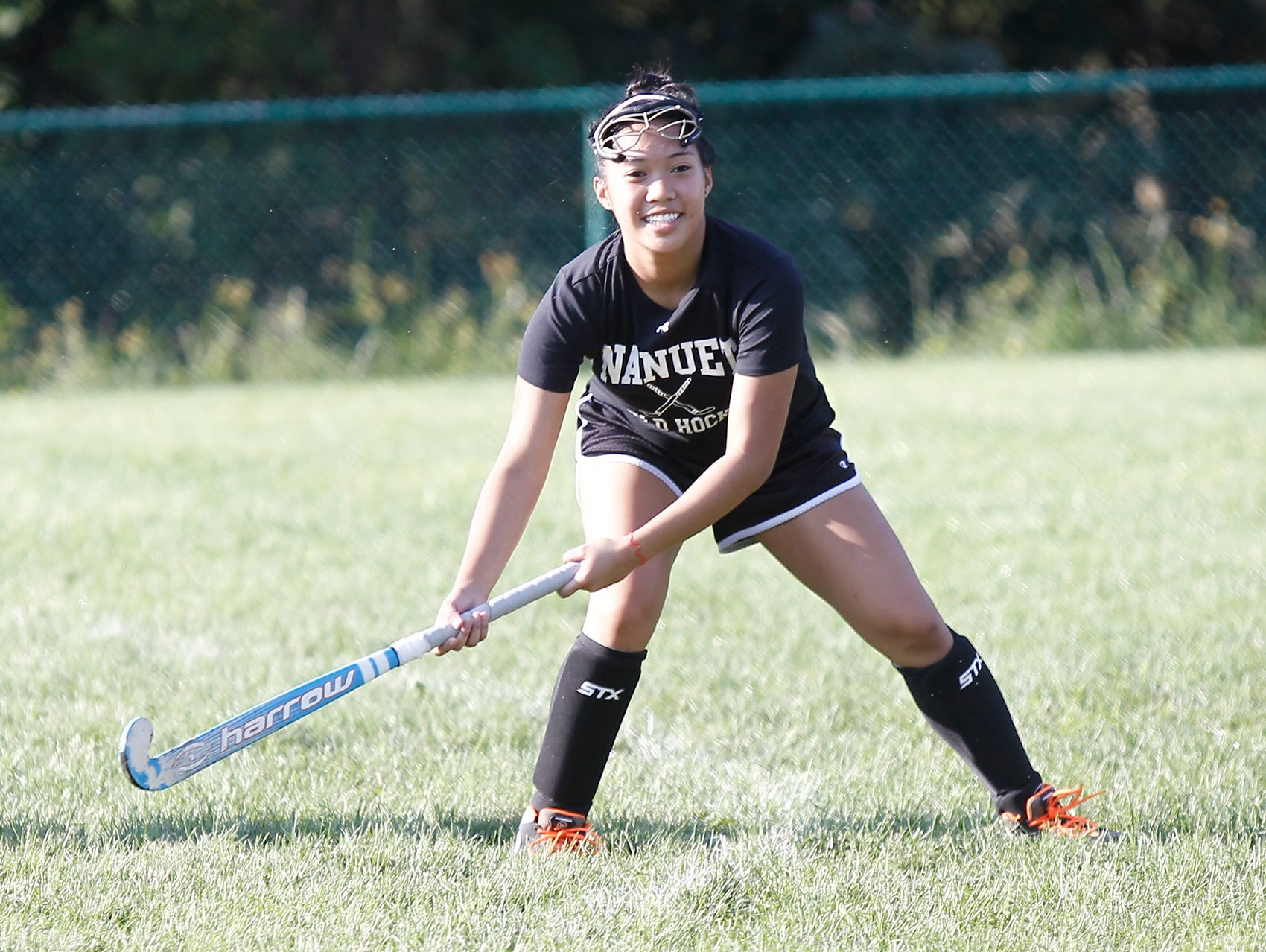 Nanuet's Vianne Palad works out during field hockey practice at Nanuet High School in Nanuet on Thursday.