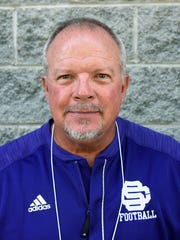 Tony Linginfelter, Sevier County High School coach, during the Knoxville Football Officials Association High School Football Media Day Friday, Jul. 14, 2017.