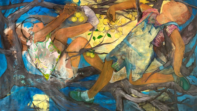 """Limbs"" (2016), oil on linen, by Philemona Williamson."