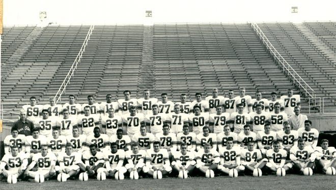 """Much of Penn State's long-standing football success on and off the field started with this 1954 team. These first recruits for head coach Rip Engle and a young Joe Paterno featured a few of the best players in the nation, but, more importantly, many of the highest-achievers. They helped de-segregate college football and put Penn State's """"Grand Experiment"""" into motion."""