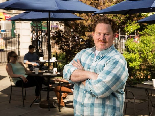 """Casey Webb hosts """"Man v. Food"""" on the Travel Channel, which airs its Burlington episode on Dec. 18."""