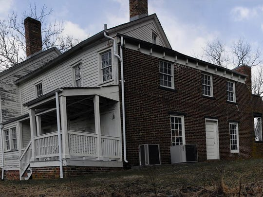 """An expanded view of the """"Big House"""" at Allaire Village."""