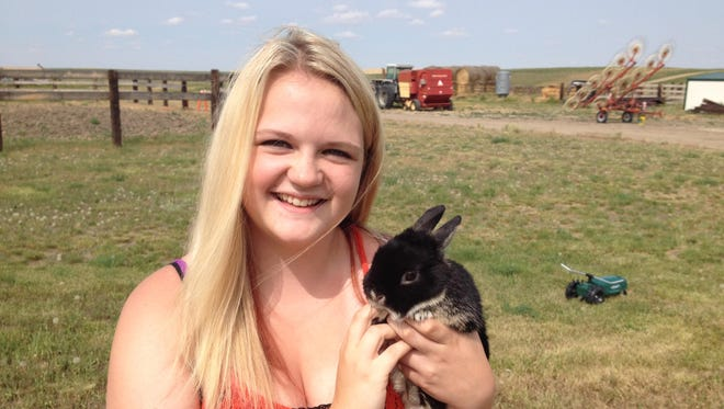 Becca Gerard and her Netherland Dwarf rabbit are partners. Gerard, a sophomore from Ulm started training her rabbit, Buttiful, when he was two months old. Now, five years later, they are veterans of showmanship.