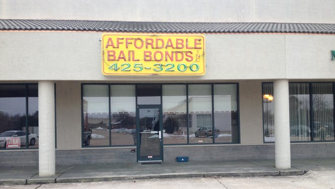 A look at the entrance to Affordable Bail Bonds located in the Georgetown Square.