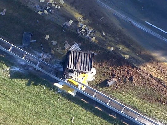 Truck Crash Route 18 in Colts Neck