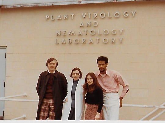 Irmgrad Muller at the Plant Virology and Nematology Laboratory at Cornell University.